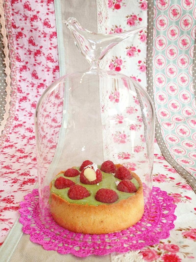 Octobre Rose Tarte Pistache Framboise