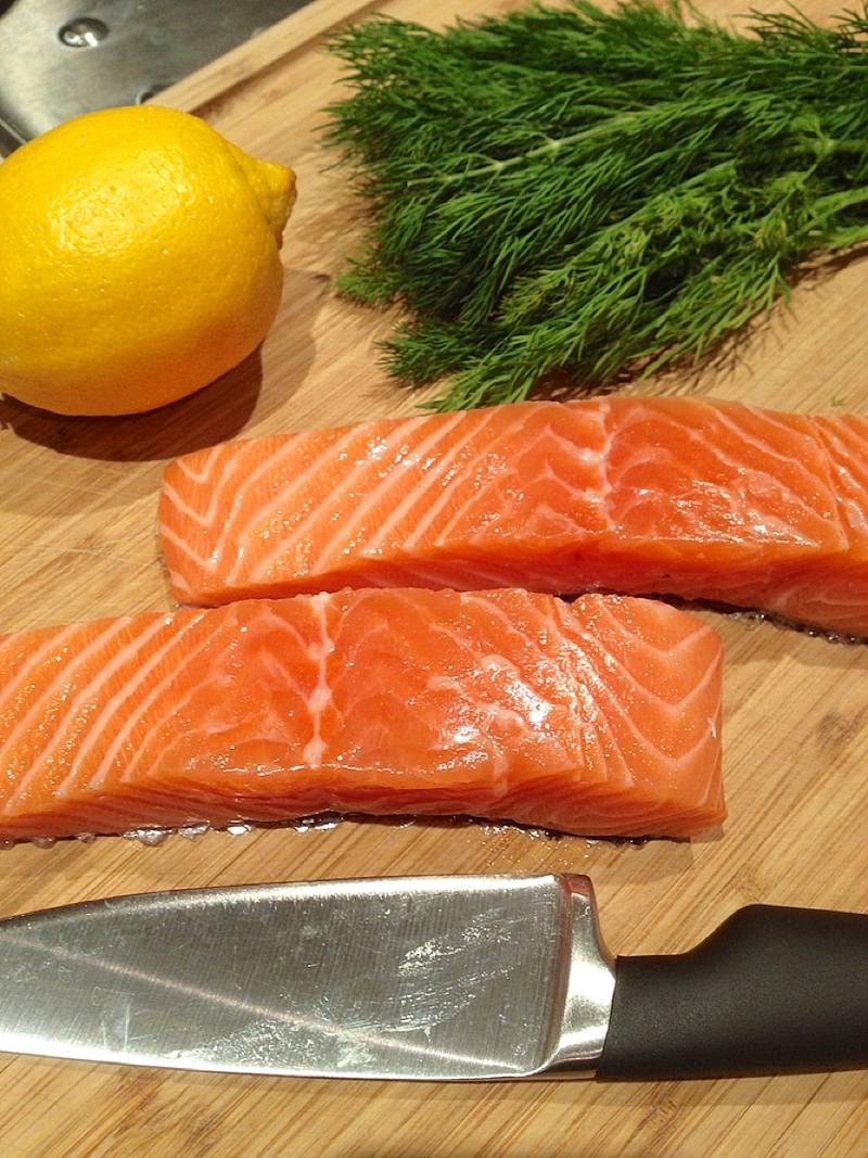 Recette crumble salé au saumon