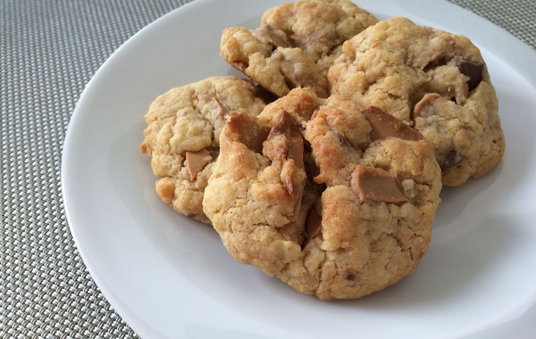 Cookies moelleux au chocolat Dulcey Valrhona