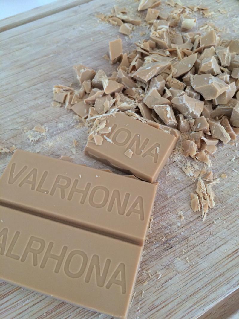 Recette Cookie chocolat Dulcey Valrhona