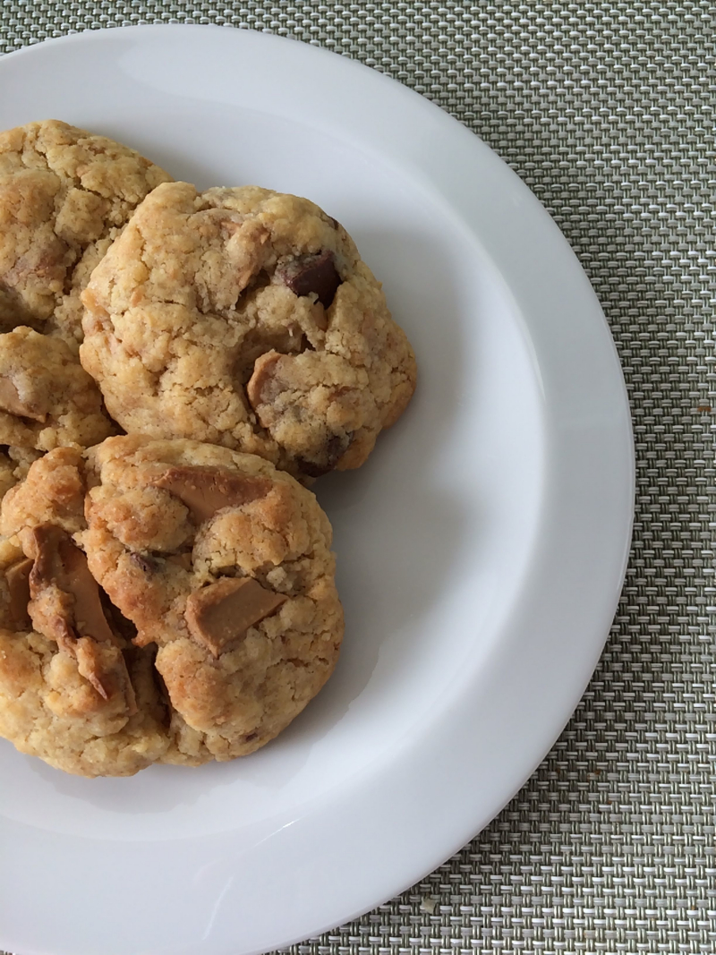 Recette Cookie chocolat Dulcey Valrhona